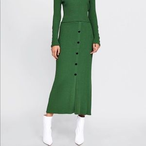 Zara Maxi Ribbed Skirt with Buttons...Fall/Winter